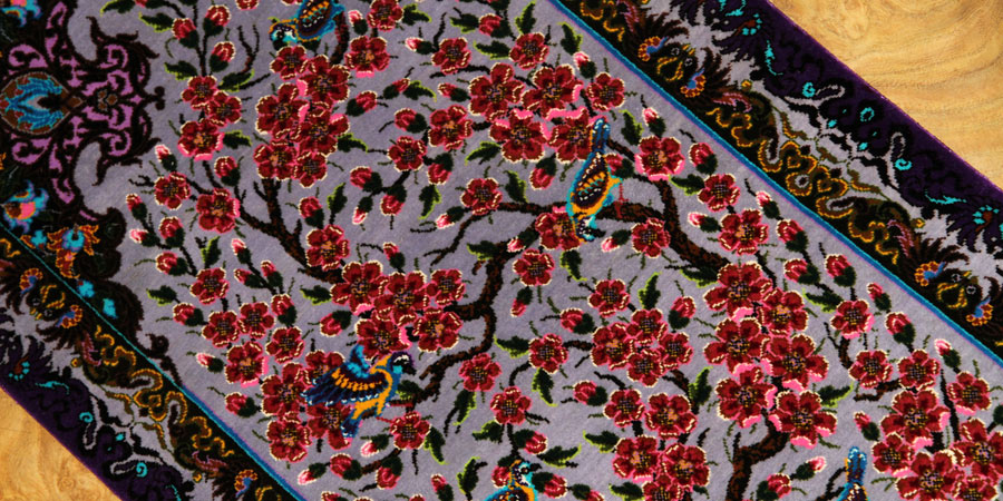 qum persian carpet silk