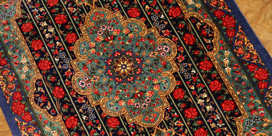qum silk persian carpet 01